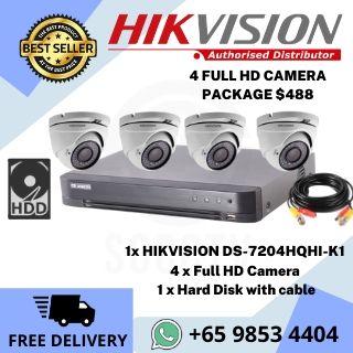 CCTV Camera Promotion Singapore 4Cam-DIY-package