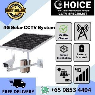 CCTV Singapore 4G Sim Card Solar CCTV System