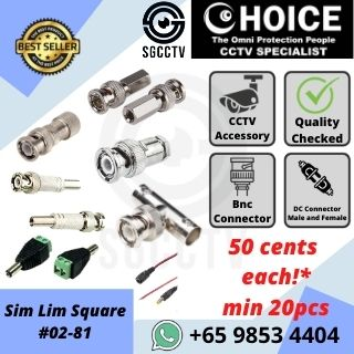 CCTV Connector, RG Cable Connector, BNC Connector, Camera Connector