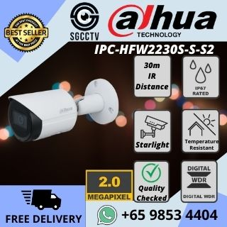 DH-IPC-HFW2230S-S-S2 2MP IR Bullet Network Camera